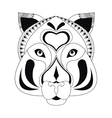 tribal feline icon vector image