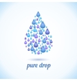 water drop with shadow vector image