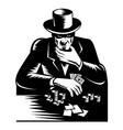 Poker Player Gambler vector image