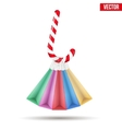 Background colorful Sweet Christmas shopping vector image