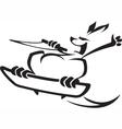 wakeboard roo vector image vector image