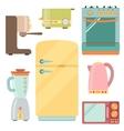 Kitchen appliances icons set kitchenware equipment vector image