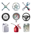 Car service tools icon set vector image