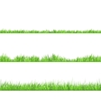 Green Grass Flat Horizontal Banners Set vector image vector image