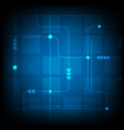 abstract blue square digital technology vector image
