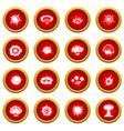explosion icon red circle set vector image