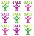 happy sale vector image