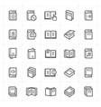 icon set - book vector image