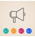 icon set with a megaphone or loudspeaker in flat vector image