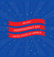 july 4 independence day in the united states vector image