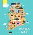 map of korea vector image