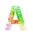 Music theme grungy font Letter A vector image