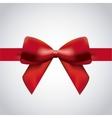Red bowtie icon Ribbon design graphic vector image