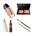 Set of different cosmetics vector image