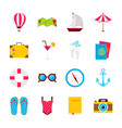 summer time objects vector image