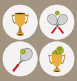 Tennis design vector image
