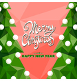 Christmas tree on red vector image
