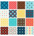vintage spanish tiles set vector image