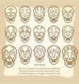 vintage mexican skull set poster vector image