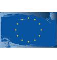 european union flag vector image vector image