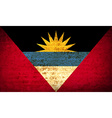 Flags of Antigua and Barbuda with dirty paper vector image