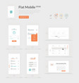 Flat Mobile UI kit vector image