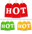 tags with hot sign vector image