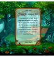 Landscape with magic tree and sample text vector image