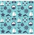 Marine symbol Nautical design elements vector image