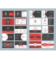Business card templates Stationery design vector image