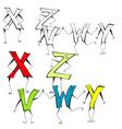 cartoon alphabet vector image