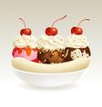Ice cream Banana Split vector image