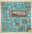 medical background metro style vector image