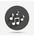 Music notes sign icon Musical symbol vector image