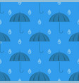 umbrella and rain drops seamless pattern vector image