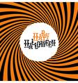 Happy Halloween Typography On orange rays hypnotic vector image