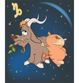 Zodiac Signs Capricorn Cartoon vector image