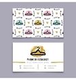 Fashion designer stylist business card Modern vector image