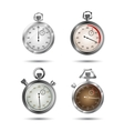 Set of stopwatches vector image
