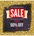 sale vintage text banner ready to print and use vector image