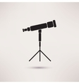 Telescope Icon in the flat style vector image