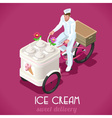 Icecream Man People Isometric vector image