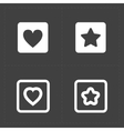 Star and Heart icons vector image