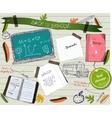 Back to school scrapbooking poster vector image