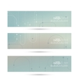 banner with blurred abstract background vector image