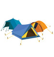 blue yellow tents vector image