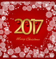 happy new year 2017 christmas card white text on vector image