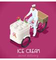 Icecream Man People Isometric vector image