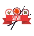 Japanese sushi menu template vector image
