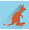 kangaroo emblem image icon image vector image